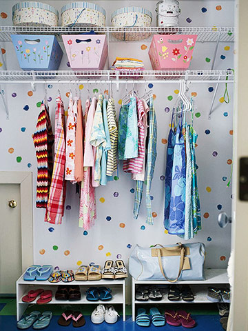 Organizing Ideas – Kids Closet