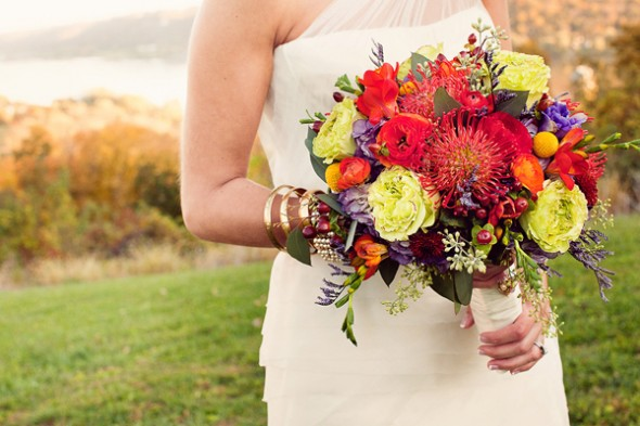 Vibrant rich tones can be used in bouquet