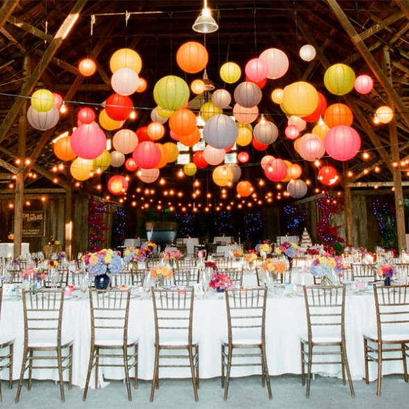 Punch up reception space with fun and color,