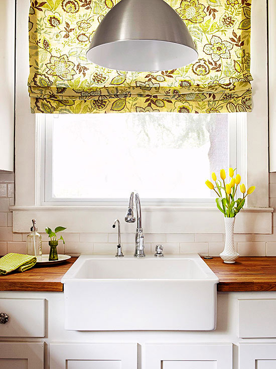 Designer window treatments for Best window treatments for kitchens