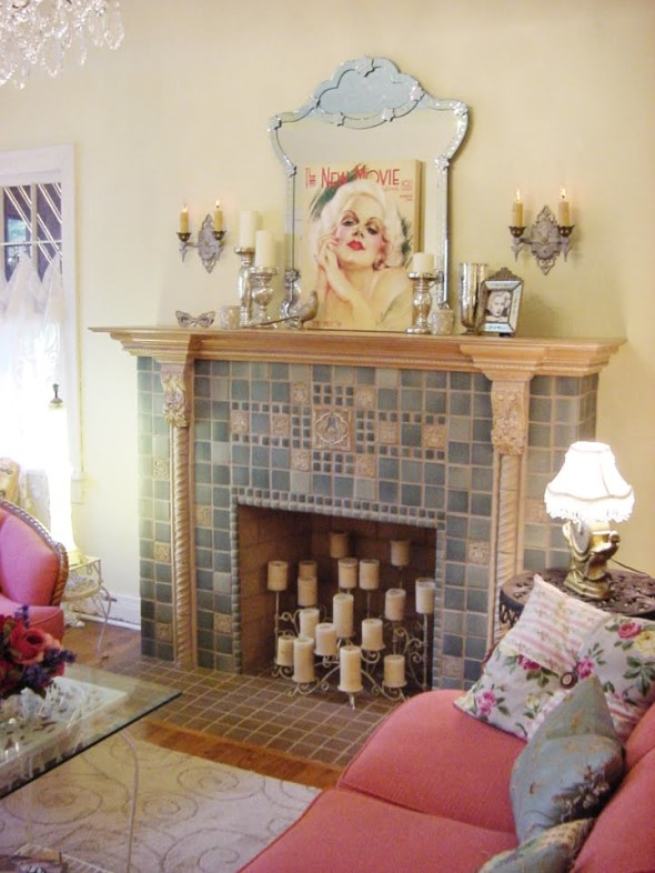 Faux Fireplace 1 590x786 Faux Fireplace Ideas
