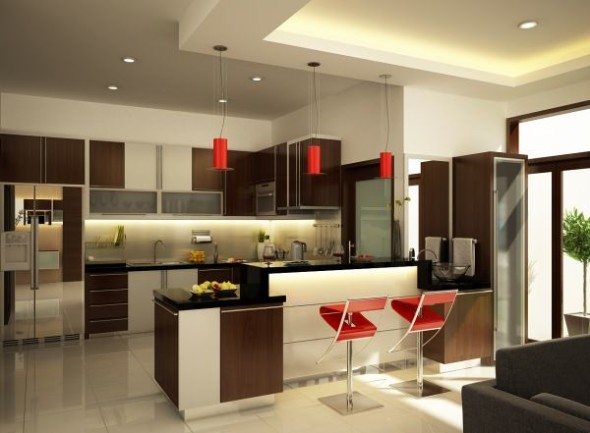 Bring A Modern Touch To The Kitchen Colors Which Are In With A Glossy Sheen They Reflect Light And Make Room Look Spacious And