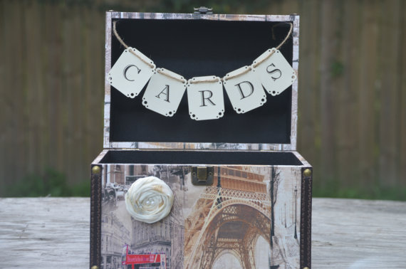 Rustic decor combined with Parisian Wedding Themes.