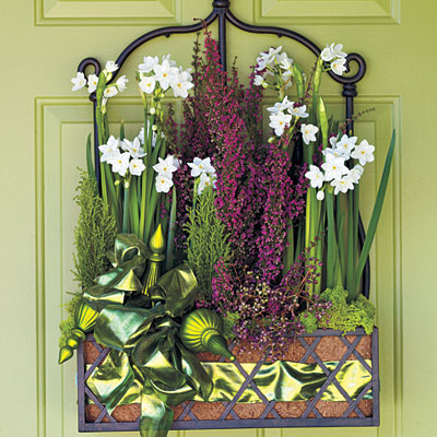 Greet guests with fresh flowers