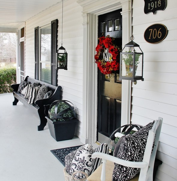 Porch Decor 3 590x605 Outdoor Living Spaces