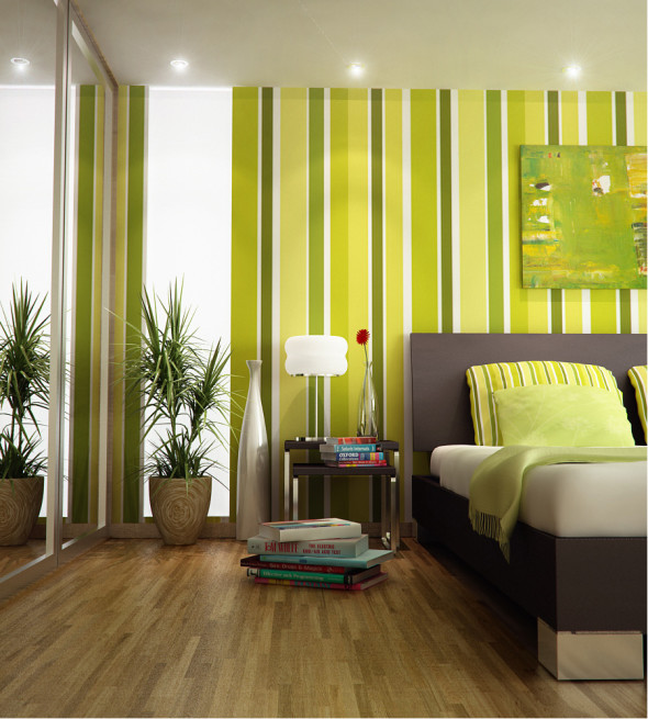 Green Bedroom 590x655 Color Trends 2014