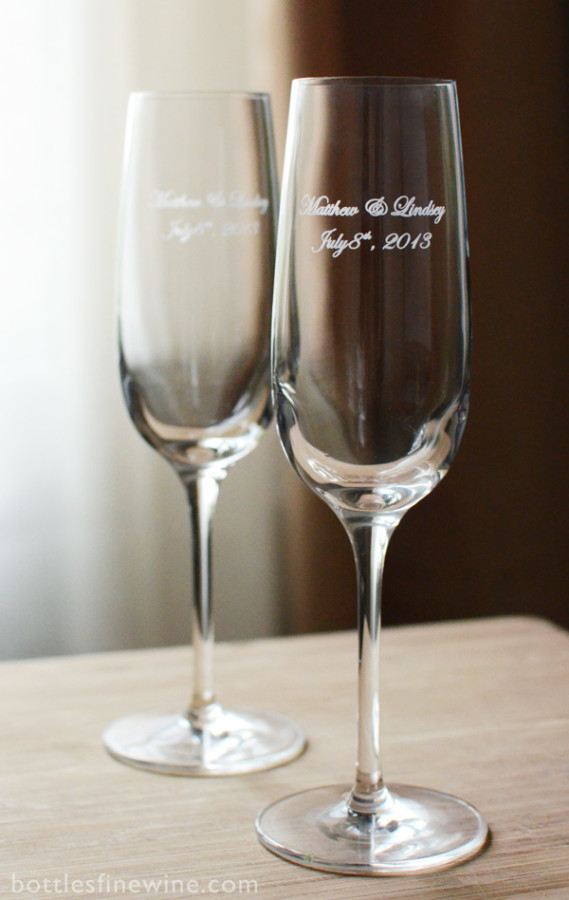 Custom etched wine or shot glasses can be great wedding party favors