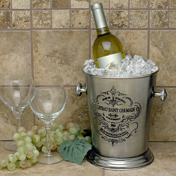 this champagne bucket embodies the opulence of the picturesque Bordeaux regions of France