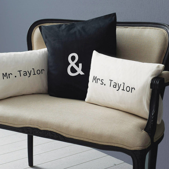 Give the ultimate comfort gift to the newly wed, cushions  are long lasting and the memories