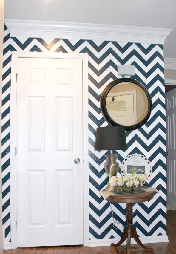 Chevron Accent Wall 590x850 Decor Trends   Chevron Pattern