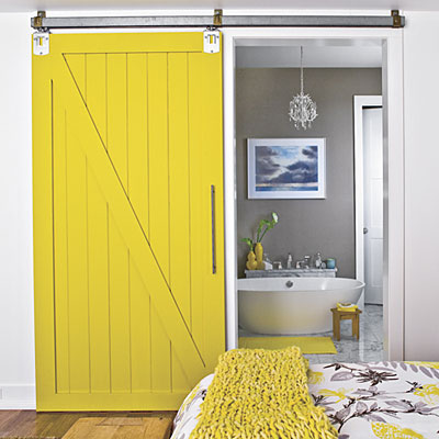 Add a spark with bright shade of yellow on the door, for fun tropical looks