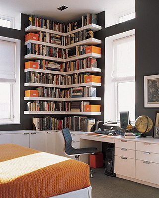 HomeOffice BookShelves 1 Bookshelve Ideas for Home Office