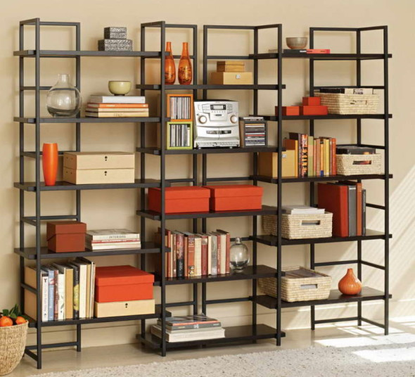 HomeOffice BookShelves 2 590x536 Bookshelve Ideas for Home Office