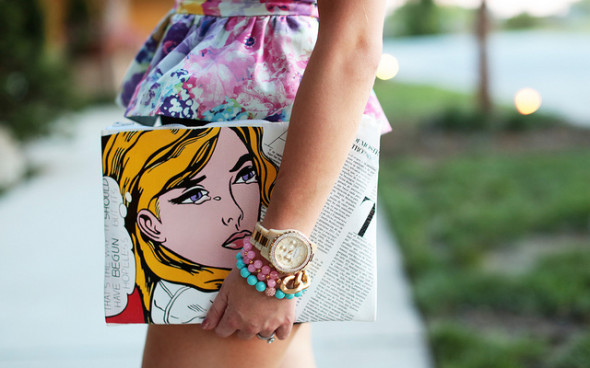 Pop Art is back in Fashion and this clutch is must have