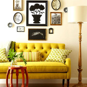 Living Room Decor – Tufted Sofa