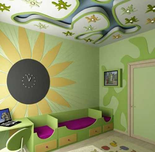 Floral Designs That Match Ceiling Lighting Fixtures, Or Cityscapes,  Combined With The Sky Are Great Decoration Patterns For Teenage Bedroom And  Older Kids ...