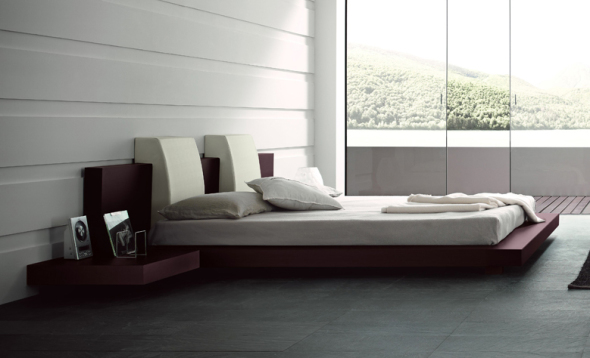 platform beds are perfect element to add style and dimension to an ordinary room.