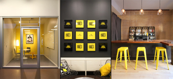 Hip and eye-catching, graphic designer workspace is all about creativity