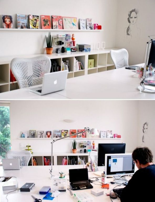 clutter free graphic designer workspace