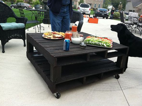 Outdoor Pallet Tables