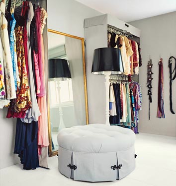 Modern or minimalist style is cool for a double closet