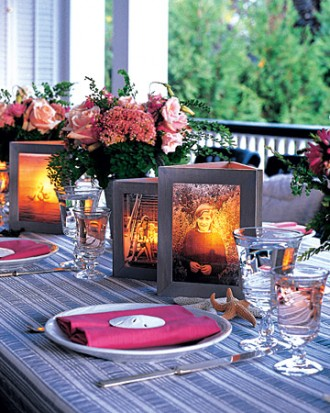 The soft, golden and flickering lighting will make any table look gorgeous