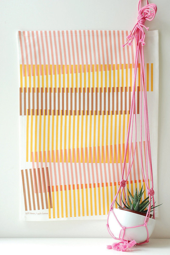 Kitchen can use light and bright linens such as these tea towel.