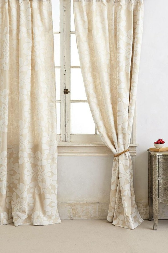 Shed off the heavy winter drapes and put on light and airy spring drapes.