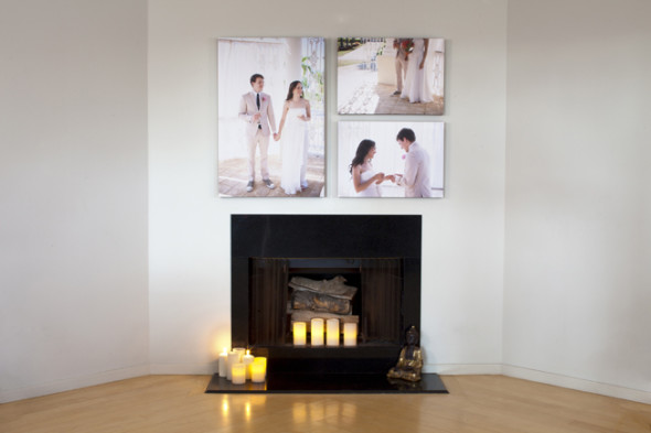 wall art customized of wedding pictures