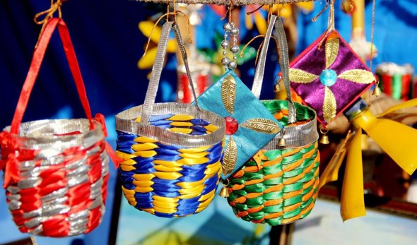 Exquisite indian crafts at surajkund international crafts mela for Decorative things from waste