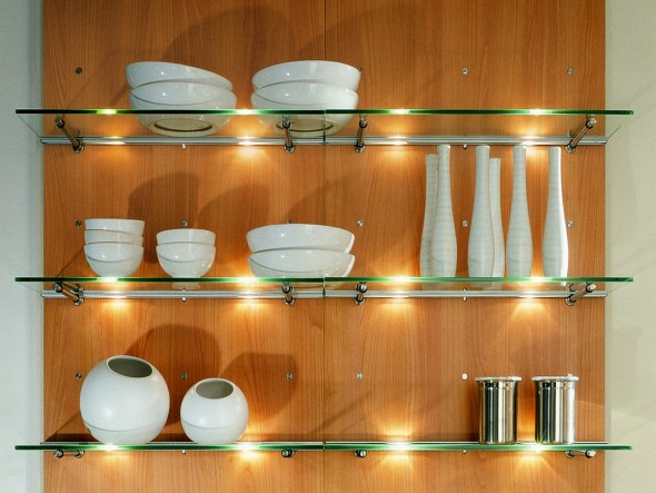 Cabinet lighting is perfect to enhance particular section