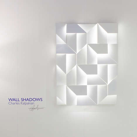 This 3D panel frame is embedded with LED lamps that evoke a soft and atmospheric glow when illuminated