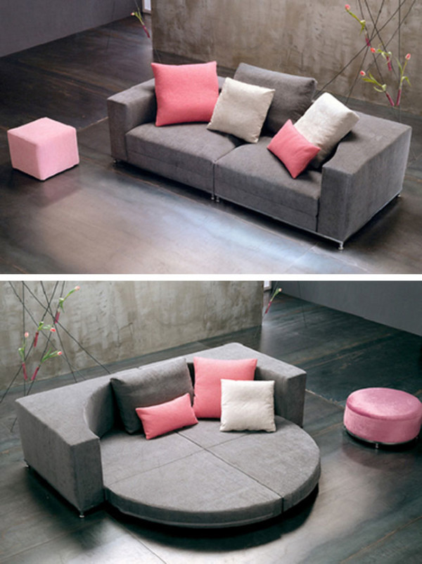 Round Convertible Sofa Bed