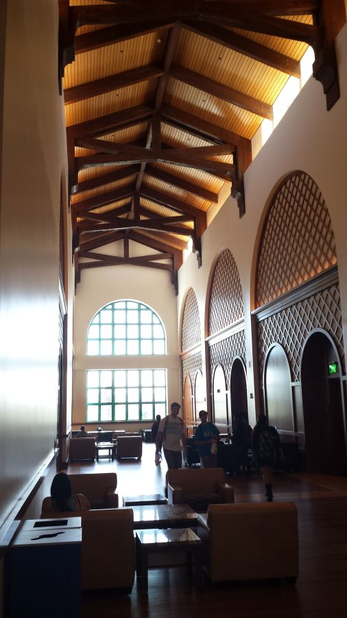 Foyer of the Montezuma Hall in the new Student Union at San Diego State University
