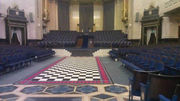 Freemasons United Grand Lodge of England, main hall