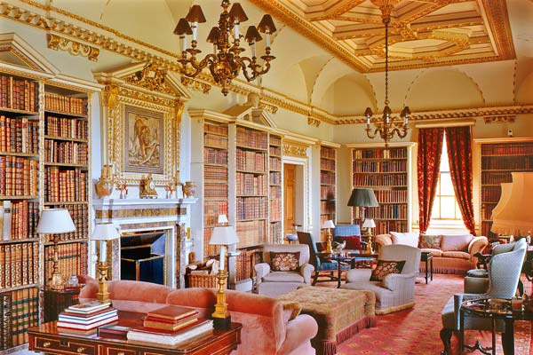 Holkham Hall Family Library