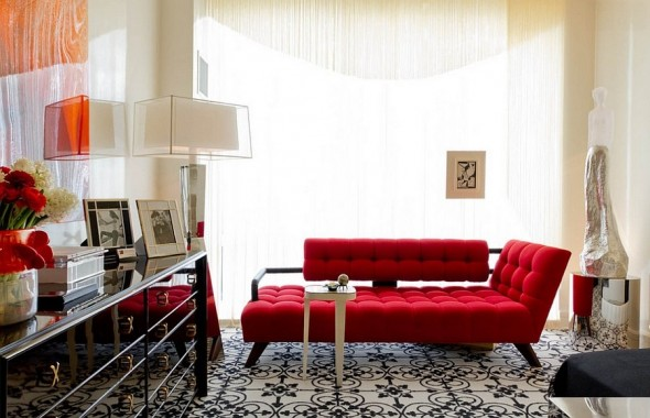 If you really want to invest in a piece of furniture, tufted sofa in primary colors is bet you can play on.