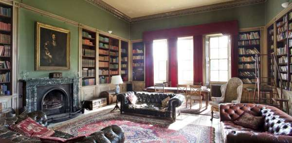 Library of Rise Hall, Yorkshire, UK