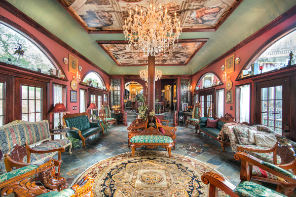 Stunning Great Hall in 1882 German built Pollaro - Braun House - Denison, Texas