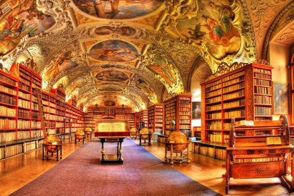 Theological Hall of the Strahov Monastery Library in Prague