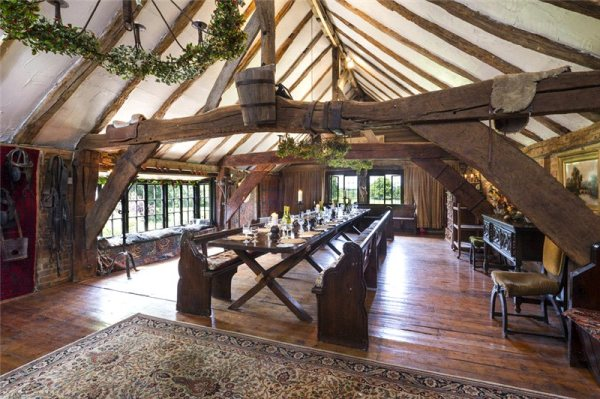 Wood, wood and more wood in this banquet hall in Surrey