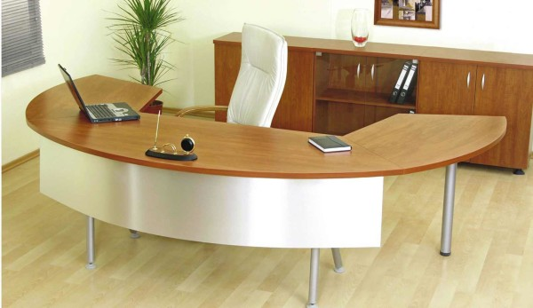 Awesome Modular Curved Laminate Desk