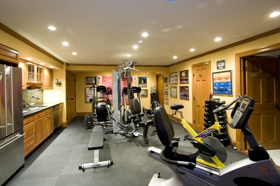 5 amazing basement ideas Living room gym
