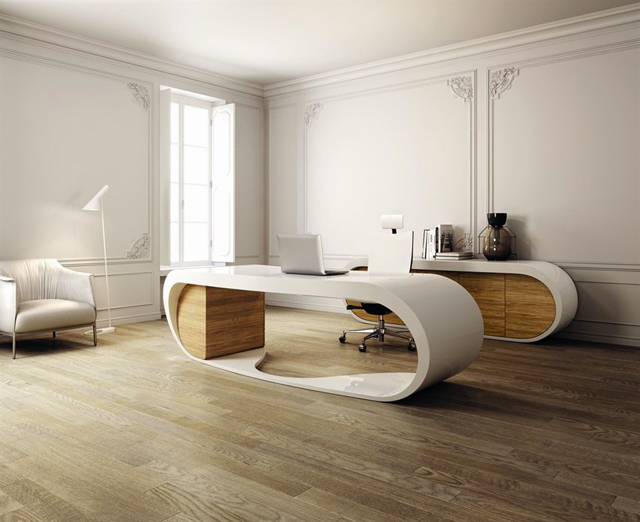 Contemporary Curved Innovative Desk