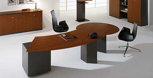 Intriguing Curved Desk : curved-desks - designwebi.com