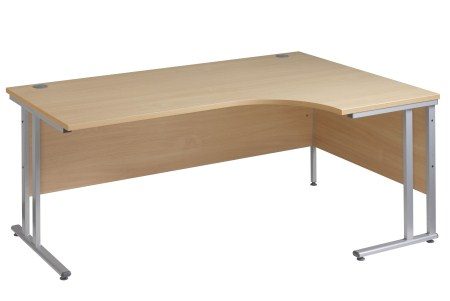 Sata Cantilever Curved Desk