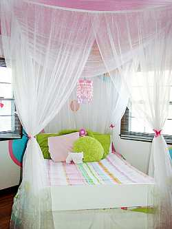 Sheer Canopy adds whimsical look to bedroom