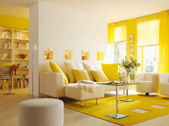 Yellow, Orange, Aqua Accents and Lavender are perfect colors for summer decor.