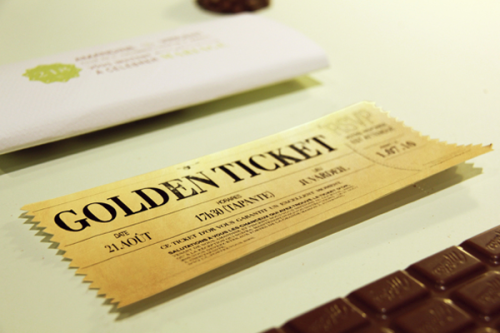 50 incredibly unique wedding invitations 03 golden ticket wedding invitation chocolate stopboris