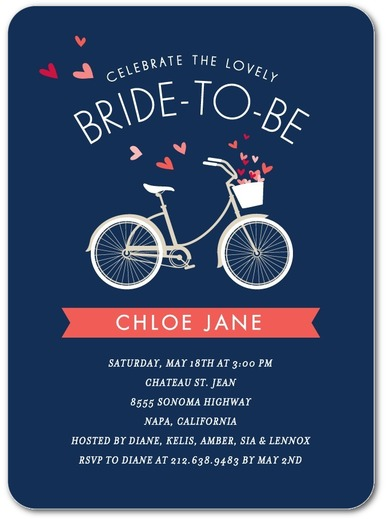 Bridal Bicycle - Bridal Shower Invitation 7